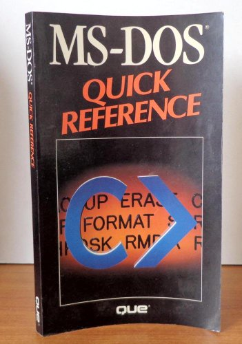 MS-DOS Quick Reference