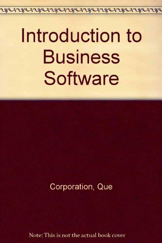 9780880224963: Introduction to Business Software