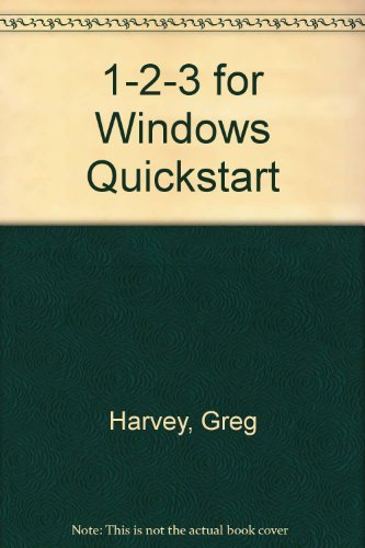 9780880227230: 1-2-3 for Windows Quickstart