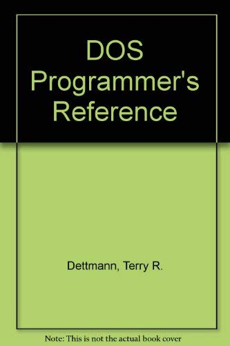 9780880227902: DOS Programmer's Reference (Programming series)