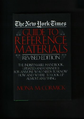 9780880292283: New York Times Guide to Reference Materials