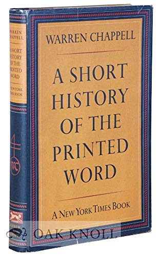 9780880293242: Short History of the Printed Word