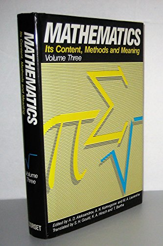 9780880294805: Mathematics. Its Content, Methods, and Meaning. Volume 3.