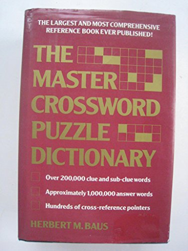 9780880298100: The Master Crossword Puzzle Dictionary: The Unabridged Word Bank