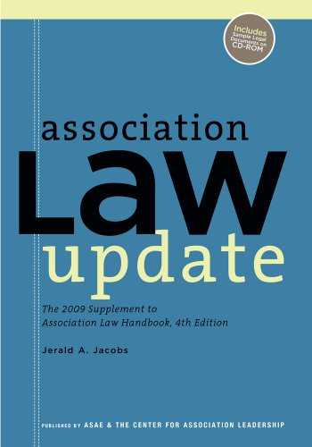 9780880343121: Association Law Update: 2009 Supplement to the Association Law Handbook, 4th Edition
