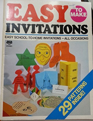 Easy to Make Invitations (Easy School-to-Home Invitations,: American Teaching Aids