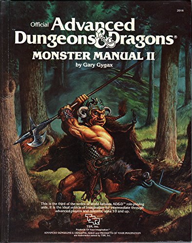 Advanced Dungeons and Dragons Monster Manual II: Gygax, Gary