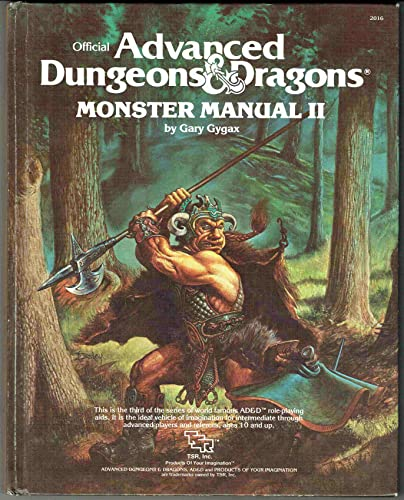 Advanced Dungeons and Dragons: Monster Manual II: Gygax, Gary
