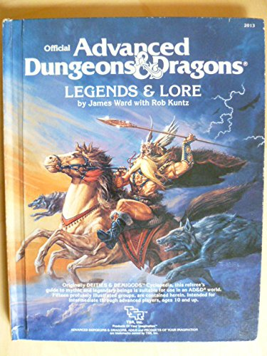 9780880380508: Advanced Dungeons and Dragons, Legends and Lore