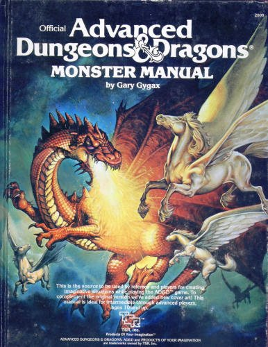Advanced Dungeons and Dragons Monster Manual: Gygax, Gary
