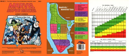 Marvel Super Heroes Judge's Screen: A Hero's Guide to New York (MHAC1) (9780880381260) by Jeff Grubb