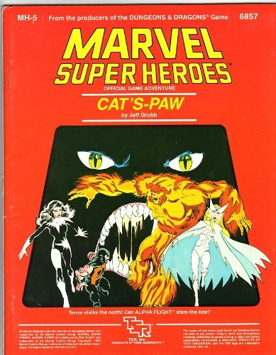 Cat's-Paw (Marvel Super Heroes module MH5) (0880381329) by Jeff Grubb