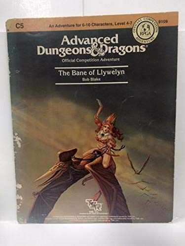9780880381949: Advanced Dungeons & Dragons: Official Competition Adventure: The Bane of Llywelyn [An Adventure for 6-10 Characters, Level 4-7]
