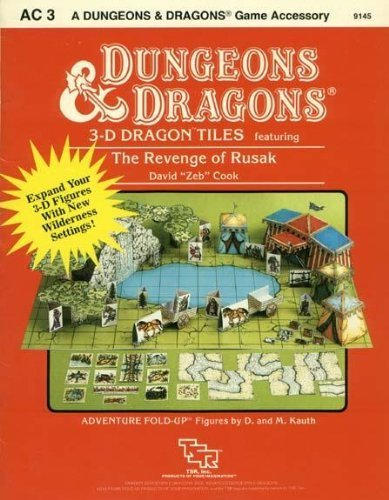 9780880382038: 3-D Dragon Tiles: featuring The Revenge of Rusak (Dungeons & Dragons Accessory AC3)