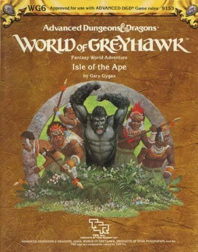 9780880382380: Isle of the Ape (AD&D Fantasy Roleplaying, Greyhawk Adventure+Map, WG6/9153)