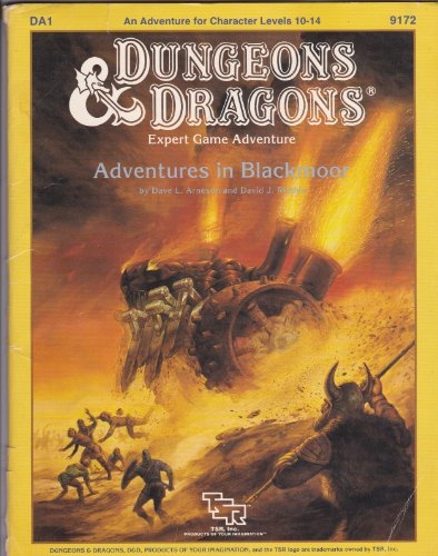 Adventures in Blackmoor (Dungeons & Dragons Module DA1): Arneson, Dave L.; Ritchie, David J.