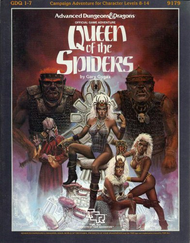 Queen of the Spiders (Advanced Dungeons & Dragons/AD&D Supermodule GDQ1-7): Gygax, ...