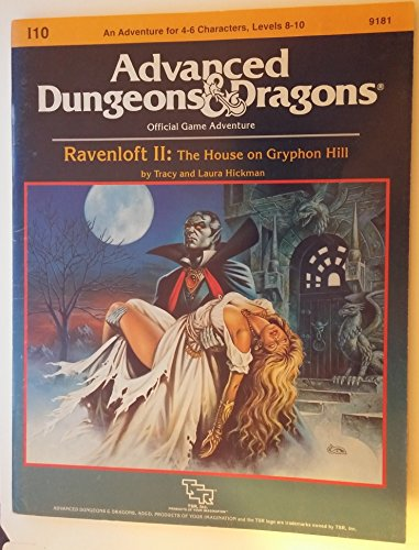 9780880383226: Ravenloft II: The House on Gryphon Hill : Module I10 (Advanced Dungeons and Dragons)