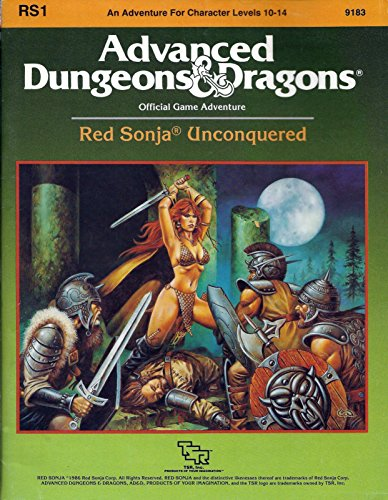 9780880383240: Red Sonja Unconquered (Advanced Dungeons & Dragons Module RS1)