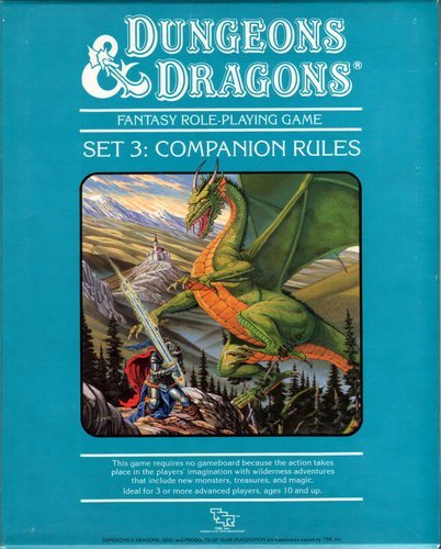 9780880383400: Dungeons and Dragons Set No. 3: Companion Rules