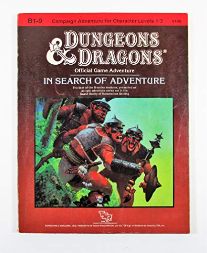 In Search of Adventure (Basic Dungeons & Dragons (Original Edition) - Modules & Adventures ...