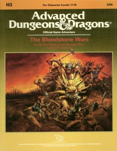 The Bloodstone Wars [Advanced Dungeons & Dragons Official Adventure Game] [For Character Levels...