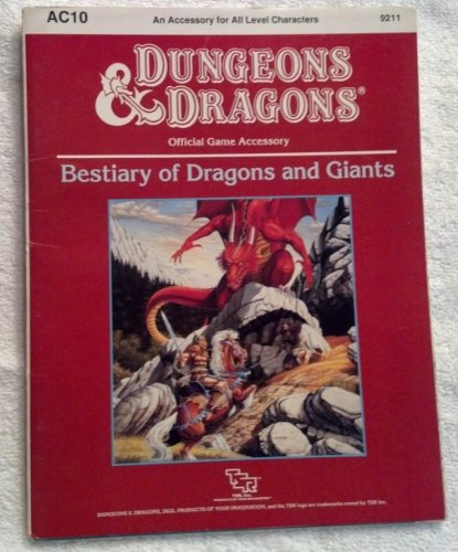 9780880384889: Bestiary of Dragons and Giants (Dungeons & Dragons Accessory AC10)
