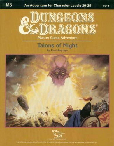 Talons of Night (Basic Dungeons & Dragons (Original Edition) - Modules & Adventures - ...