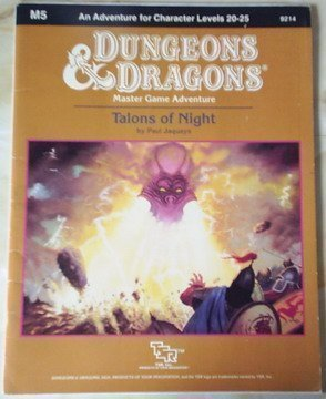Talons of Night: Standard Module M5 (Dungeons & Dragons) (0880384913) by Paul Jaquays