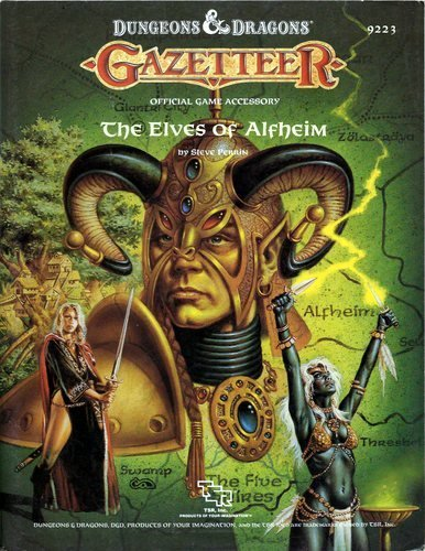 9780880385381: The Elves of Alfheim (Dungeons & Dragons Fantasy Roleplaying, Gazetteer GAZ5, Bk+Map)