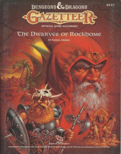 9780880385619: The Dwarves of Rockhome (Dungeons & Dragons Gazetteer GAZ6)