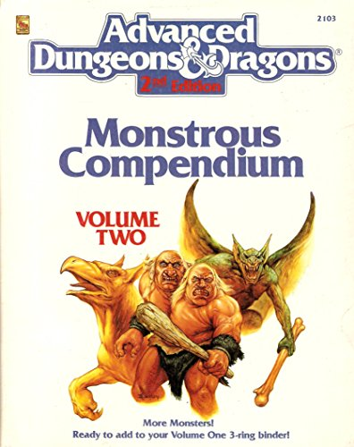 9780880387538: Monstrous Compendium, Vol. 2 (Advanced Dungeon and Dragons 2nd Edition Accessory)