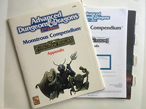 9780880387699: Monstrous Compendium: Forgotten Realms Appendix (Advanced Dungeons & Dragons/Tsr 2104)