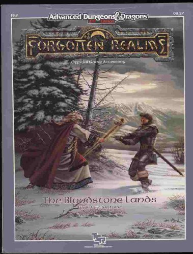 9780880387712: The Bloodstone Lands (AD&D 2nd Ed Fantasy Roleplaying, Forgotten Realms, Bk+Map, FR9)