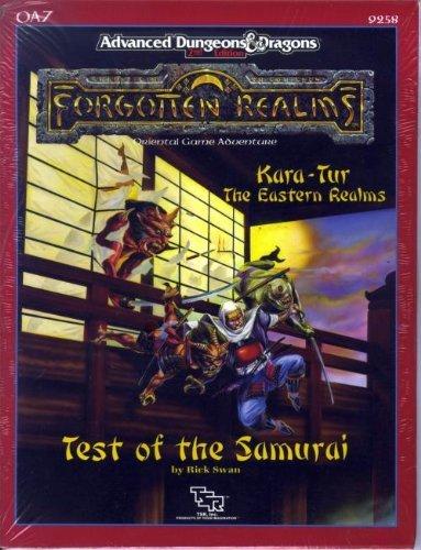 9780880387750: Test of the Samurai (AD&D/Forgotten Realms/Oriental Adventures Module OA7)