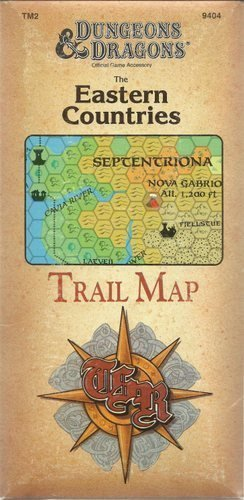 Eastern Countries Trail Map, The (Basic Dungeons & Dragons (Original Edition) - Sourcebooks &...