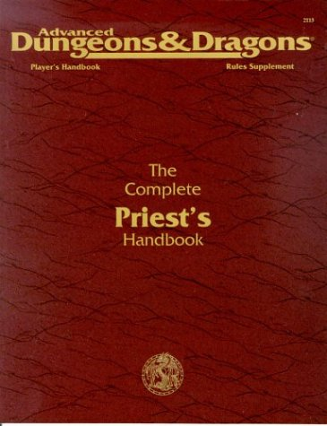 The Complete Priest's Handbook. Advanced Dungeons & Dragons 2nd Edition Players Handbook Rules Su...