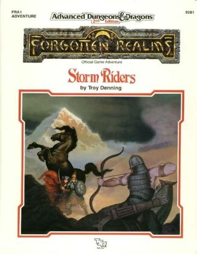 9780880388344: Storm Riders (AD&D Fantasy Roleplaying, : Forgotten Realms Adventure FRA1)