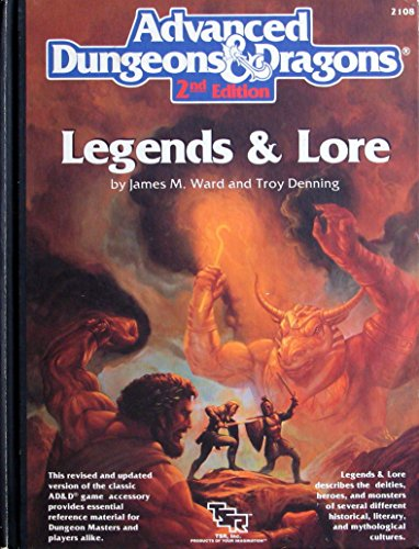 9780880388443: Advanced Dungeons and Dragons: Legends and Lore