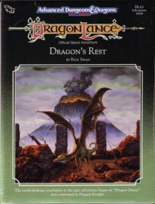 9780880388696: Dragonlance Official Game Adeventure: Dragon's Rest (Advanced Dungeons & Dragons, DLA3, No. 9294)