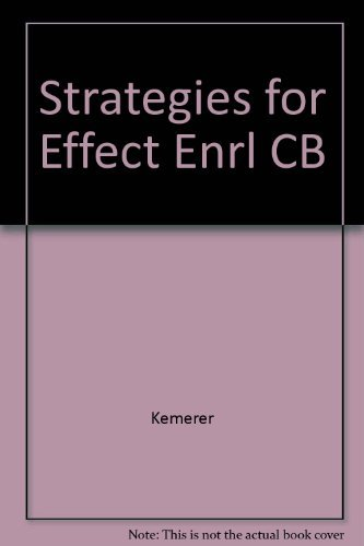 Strategies for Effective Enrollment Management: Frank R. Kemerer