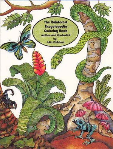 9780880451420: The Rainforest Encyclopedia Coloring Book (Naturencyclopedia Series)