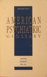 American Psychiatric Glossary: Stone, Evelyn