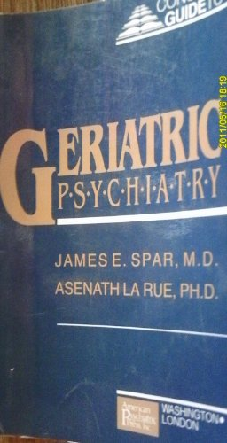 9780880483353: Concise Guide to Geriatric Psychiatry (Concise Guides)