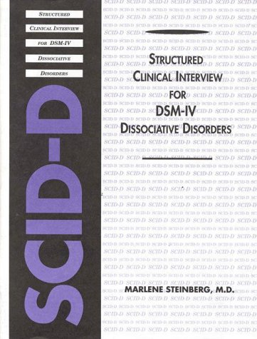 9780880485623: Structured Clinical Interview for Dsm-IV Dissociative Disorders: Marlene Steinberg (Scid-D)
