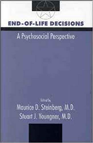 9780880487566: End-Of-life Decisions: A Psychological Perspective