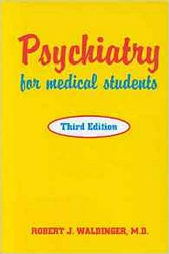 9780880487702: Psychiatry for Medical Students, Third Edition