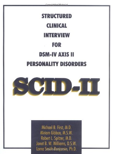 9780880488112: Structured Clinical Interview for DSM-IV Axis II Personality Disorders (SCID-II)(interview+questionnaire pack of 10)
