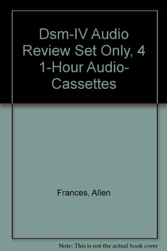 9780880488945: Dsm-IV Audio Review Set Only, 4 1-Hour Audio- Cassettes