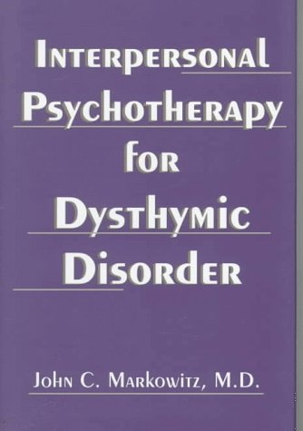 9780880489140: Interpersonal Psychotherapy for Dysthymic Disorder